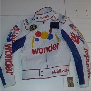 Leather Hand Stitched NASCAR jacket